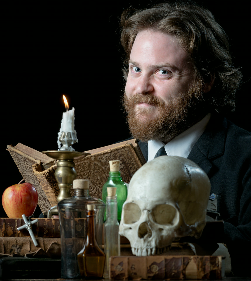 Andrew Goldwasser as Faustus in DOCTOR FAUSTUS. Photo by Michael Bailey.